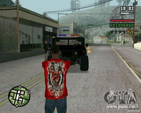 Nouveau shérif pour GTA San Andreas deuxième écran