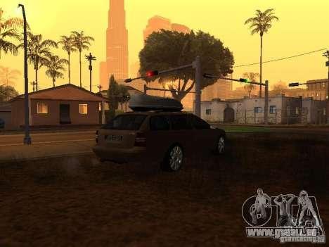 Skoda Octavia pour GTA San Andreas vue intérieure