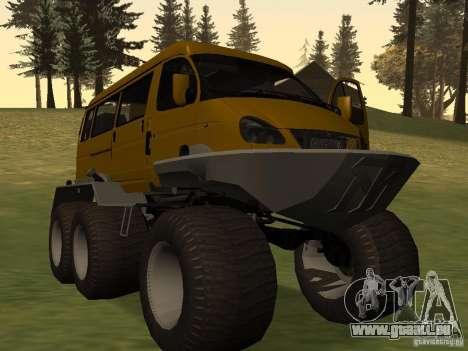 Gazelle 2705 swamp buggy pour GTA San Andreas sur la vue arrière gauche