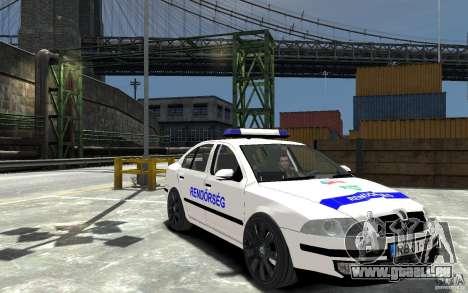 Skoda Octavia 2005 Hungarian Police pour GTA 4 Vue arrière