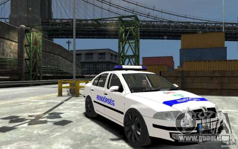Skoda Octavia 2005 Hungarian Police für GTA 4 Rückansicht