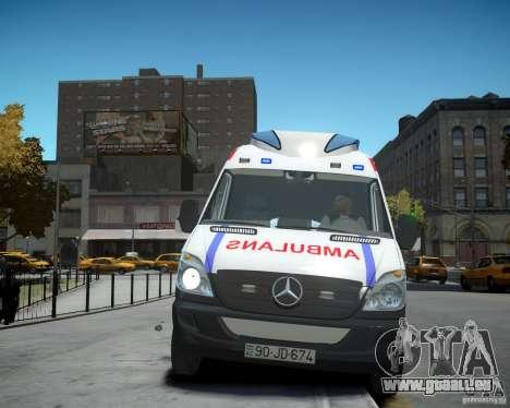 Mercedes-Benz Sprinter Azerbaijan Ambulance v0.2 für GTA 4 Innenansicht