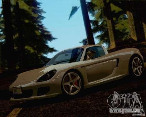 Porsche Carrera GT pour GTA San Andreas vue de dessus