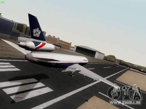 McDonell Douglas DC-10-30 British Airways für GTA San Andreas rechten Ansicht