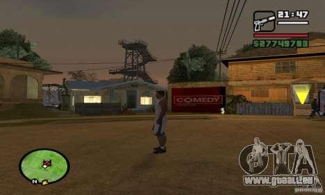 Base GROOVE Street für GTA San Andreas dritten Screenshot