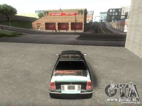Lincoln Town car sedan pour GTA San Andreas vue de droite