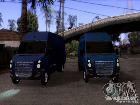 Volkswagen Crafter XL pour GTA San Andreas vue arrière