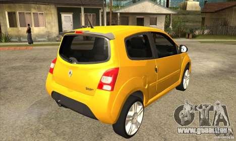 Renault Twingo RS 2009 für GTA San Andreas rechten Ansicht