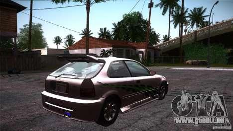 Honda Civic Tuneable für GTA San Andreas