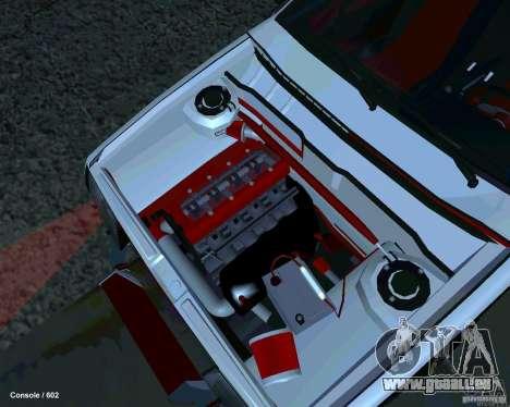 VAZ 2108 Drag pour GTA San Andreas vue arrière