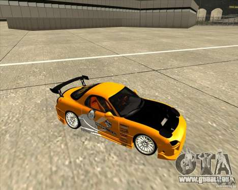 Mazda RX-7 sumopoDRIFT pour GTA San Andreas vue arrière