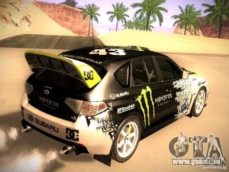 Subaru Impreza Gymkhana für GTA San Andreas zurück linke Ansicht