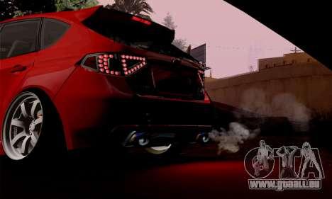 Subaru Impreza WRX Camber pour GTA San Andreas vue de droite