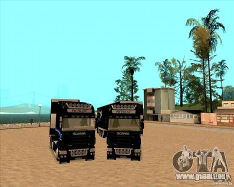 Scania R620 Pimped pour GTA San Andreas vue arrière