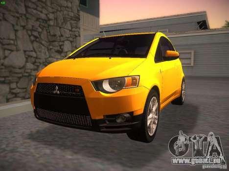 Mitsubishi Colt Rallyart für GTA San Andreas Rückansicht