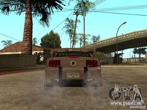 Ford Mustang GT pour GTA San Andreas sur la vue arrière gauche