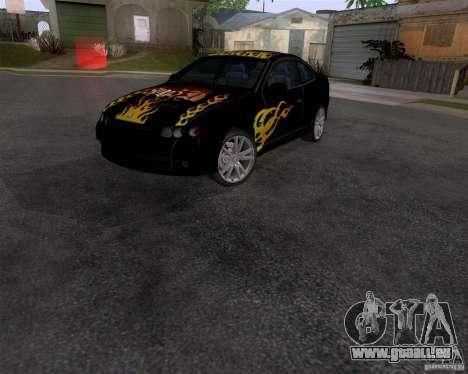 Vauxhall Monaco VX-R pour GTA San Andreas sur la vue arrière gauche