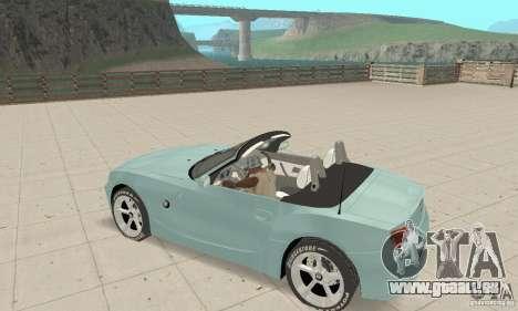 BMW Z4 Roadster 2006 pour GTA San Andreas vue de dessus
