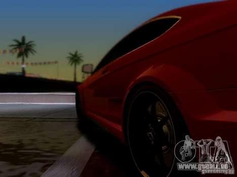 Mercedes Benz C63 AMG C204 Black Series V1.0 pour GTA San Andreas sur la vue arrière gauche
