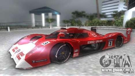 Toyota GT-One TS020 für GTA Vice City rechten Ansicht