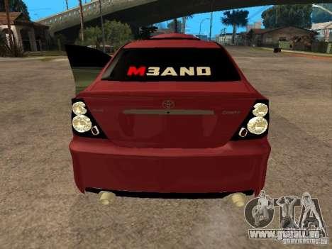 Toyota Camry 2005 TRD pour GTA San Andreas sur la vue arrière gauche