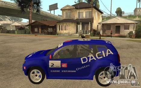 Dacia Duster Rally für GTA San Andreas linke Ansicht