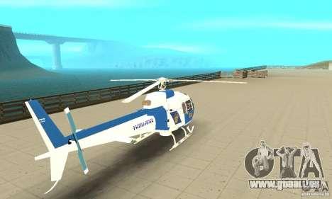 AS-350 Police für GTA San Andreas linke Ansicht