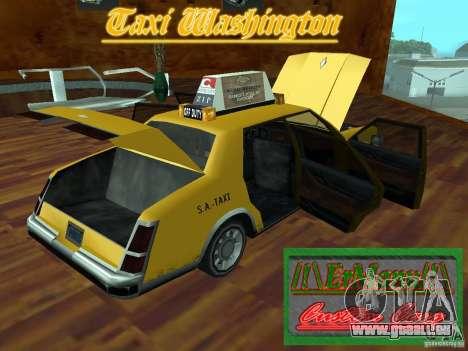 Taxi Washington für GTA San Andreas Rückansicht
