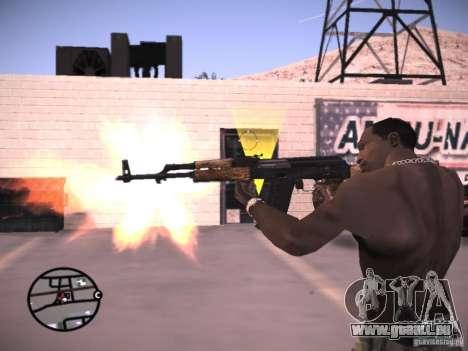 AK-47 pour GTA San Andreas quatrième écran