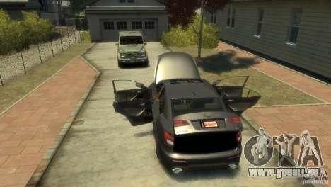 Lexus IS F pour GTA 4 est une vue de l'intérieur