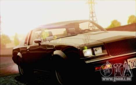 Buick GNX 1987 für GTA San Andreas Unteransicht