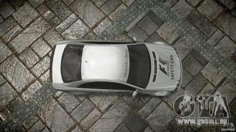 Mercedes Benz CLK63 AMG Black Series 2007 pour GTA 4 vue de dessus