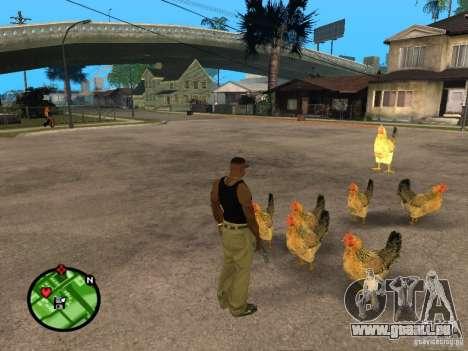 Hühner in GTA San Andreas für GTA San Andreas