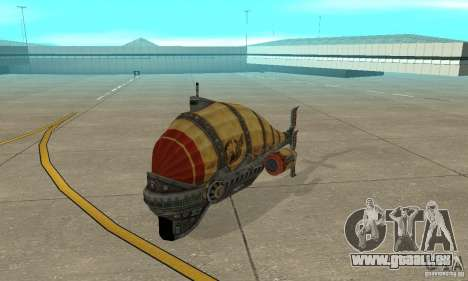 Dirigeable de TimeShift pour GTA San Andreas laissé vue