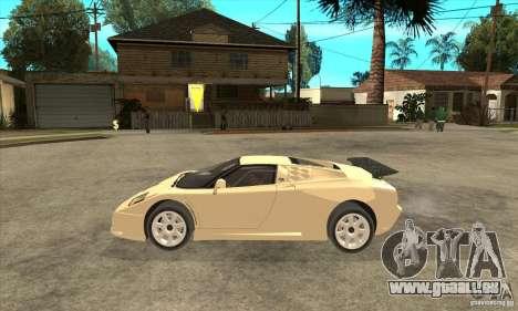 Bugatti EB110 SS 1992 pour GTA San Andreas laissé vue