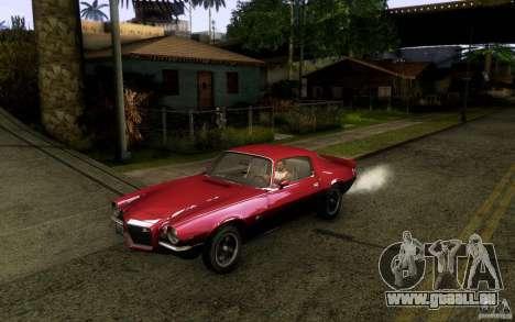 Chevrolet Camaro Z28 pour GTA San Andreas laissé vue