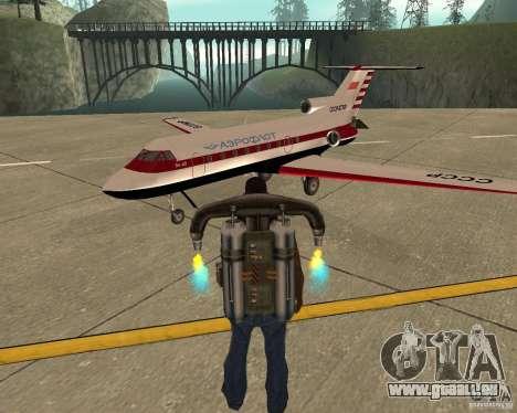 Das Flugzeug Jak-40 für GTA San Andreas