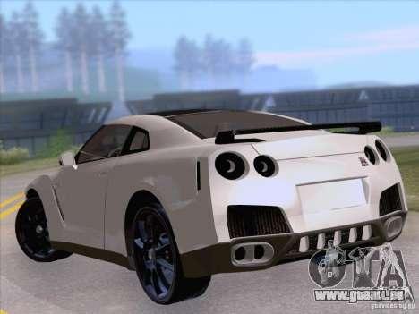 Nissan GTR Edited pour GTA San Andreas sur la vue arrière gauche