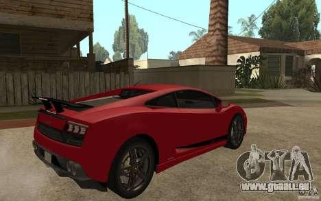 Lamborghini Gallardo LP 570 4 Superleggera für GTA San Andreas rechten Ansicht