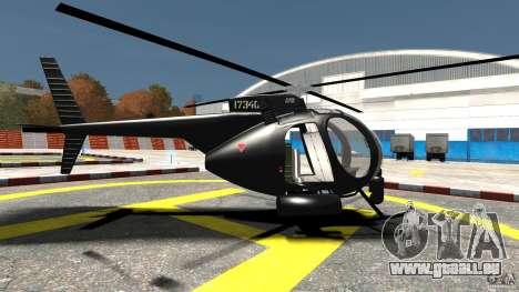 AH-6 LittleBird Helicopter pour GTA 4 est une gauche