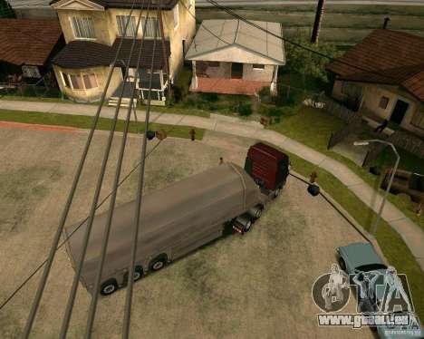 Remorque Steklovoz pour GTA San Andreas sur la vue arrière gauche
