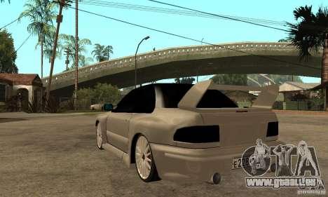 Subaru Impreza 22B STI Tuning pour GTA San Andreas sur la vue arrière gauche