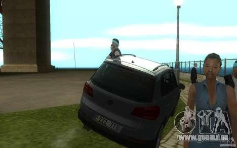 Volkswagen Tiguan 2012 für GTA San Andreas Rückansicht