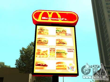 Mc Donalds für GTA San Andreas zwölften Screenshot