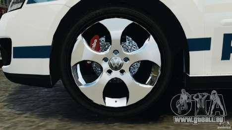 Volkswagen Golf 5 GTI South African Police [ELS] pour GTA 4 est une vue de l'intérieur
