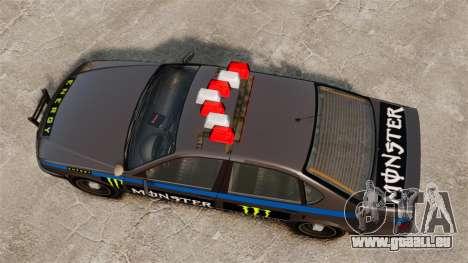 Polizei-Monster-Energie für GTA 4 Rückansicht