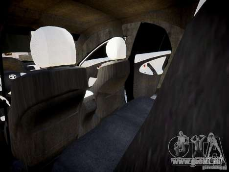 Toyota Camry für GTA 4 Innenansicht