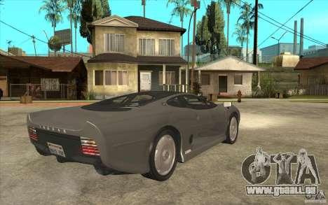 Jaguar XJ 220 pour GTA San Andreas vue de droite