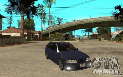 BMW M5 E39 530tdi Touring pour GTA San Andreas vue arrière