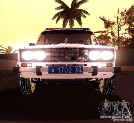 VAZ 2106 Polizei V 2.0 für GTA San Andreas Rückansicht